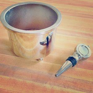 SLAH Wine Coaster and Stopper Set
